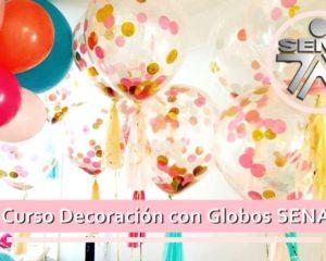 curso decoracion con globos sena