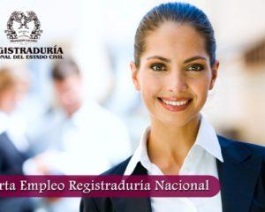 Oferta Empleo Registraduría Nacional